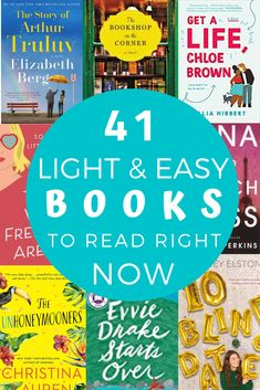 Light & Easy Books To Read When You Really Just Need An Escape Looking for light and easy read right now? This reading list is full of lighthearted reads, feel good reads and books that are just easy to find solace in. Feel Good Books, Best Books To Read, Ya Books, I Love Books, Best Books List, Good Audio Books, Good Book Club Books, Good Books To Read, Book List Must Read