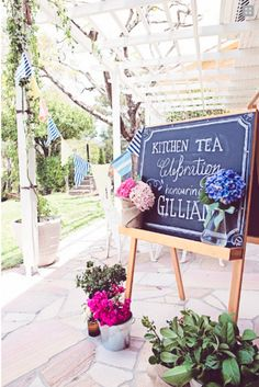 New Blog Post Time: Well hello navy and pink pretty kitchen tea goodness!  I love you!
