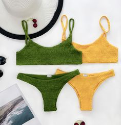 Chicnico Sexy Hand Made Solid Color Bikini Set Swimwear Fashion, Bikini Fashion, The Bikini, Bikini Set, Summer Suits, Cute Bikinis, Crochet Bikini, Bathing Suits, Beachwear