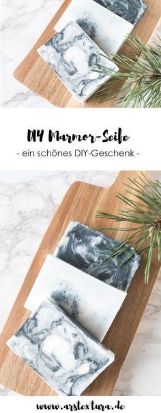 DIY Geschenk: DIY Seife selber machen im Marmorlook | #diygeschenk #seife