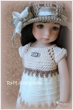 "R M Dollfashion Handknit Set for Effner Little Darling 13"" Kish 14"" BJD Dolls | eBay"