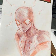 Pencil Miles Morales Spider-Man by Sara Pichelli