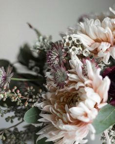 muted wedding and valentine flowers