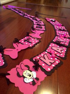Hey, I found this really awesome Etsy listing at https://www.etsy.com/listing/205965740/minnie-mouse-birthday-banner