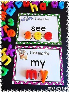 This can help them build words and see the use of letters in other words as well. Sight words activities for kindergarten first grade or even second grade that use adorable pictures AND easy simple sentences to make learning sight words a lot of fun! Preschool Sight Words, Learning Sight Words, Sight Word Activities, Spelling Activities, Alphabet Activities, Kindergarten Lesson Plans, Kindergarten Activities, Activities For Kids, Learning Activities