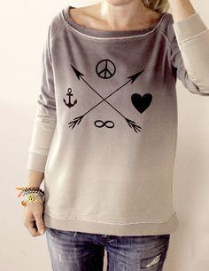ABSURD Sweater ♥Peace Sailor♥ Boho Vintage Ethno von Lovely-Gifts auf DaWanda.com