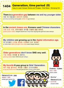 Easy to Learn Korean 1404 - Generation, time period (part two).