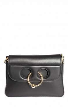 Mini Black Cross-body Pierce Bag from Mini Sac cross-body en cuir Pierce J-W Anderson