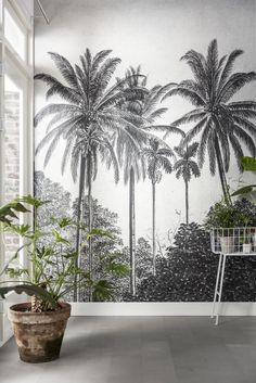 Bedroom wallpaper design wallpapers wall murals 59 New ideas Wallpaper Design For Bedroom, Interior Wallpaper, Home Wallpaper, Designer Wallpaper, Wallpaper Inspiration, Decor Inspiration, Botanical Decor, Botanical Wallpaper, Wall Murals Bedroom