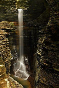 Waterfall, Watkins Glen, New York.