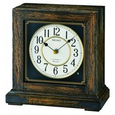 Beautiful table clock. Classic look - kind of farmhouse/country chic. Plays different songs, including Christmas songs! We think this is a great gift idea.