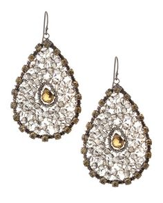 Briolette Beaded Teardrop Earrings, Clear Gray by Nakamol at Neiman Marcus Last Call.