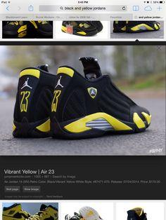 f7088f20f6c1 New Air Jordan 14 Retro Thunder Black Vibrant Yellow-White Shoes For Sale  Online Shop.