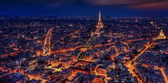 Paris, France, Eiffel Tower, Night