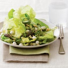 Asparagus and Butterhead Lettuce Salad | MyRecipes.com