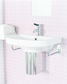 Tvättställ 860-2 - för bult/konsolmontage 60 cm Decor, Ceramics, Guest Bathroom, Home Decor, Sink, Bathroom Sink, Bathroom