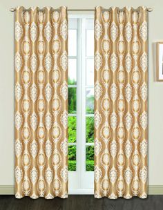 Dainty Home Monaco Heavy Jacquard Grommet Window Panel by DaintyHome on Etsy