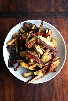 Roasted Parsnips with Chili-Maple Butter