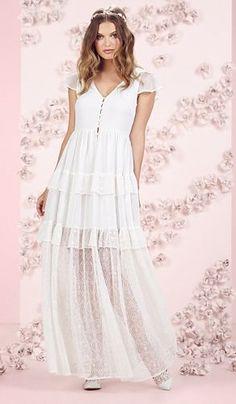 LC Lauren Conrad Runway Collection Ruffle Chiffon Maxi Dress - Women's