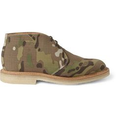 Mark McNairy Camouflage-Print Canvas Desert Boots