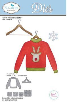 Elizabeth Craft Winter Sweater Die