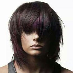 Choppy purple toned shag