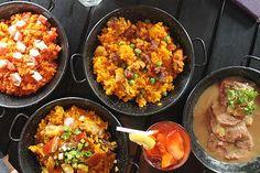 Hala Paella! Spanish Comfort Food Treat Paella, Freedom Wall, Baby Squid, Food Treat, Roasted Garlic, Fried Rice, I Foods, Crisp, Spanish