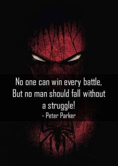 Spiderman/Peter Parker Quote