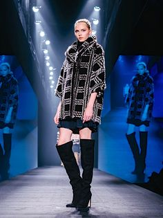 Byte by Giuliana Teso Plaid Mink Fur Coat