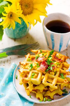 corn waffle with bacon by zoryanchik76 For photography advice check www.amateurnikon.com