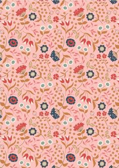 Chieveley - Country House Floral On Pink Lewis & Irene Patchwork Quilting Fabric Textile Design, Fabric Design, Quilting Thread, Patchwork Quilting, Quilting Fabric, Art Is Dead, Textiles, Collage, Pattern Illustration