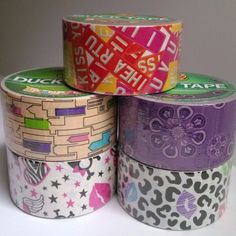 5 Duck Brand Mixed Cheetah Kisses Buildings Decorative Duct Tape Lot FAST SHIP #DuckTape