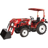 FREE SHIPPING — NorTrac 25XT 25 HP 4WD Tractor with Front End Loader — with Ag. Tires