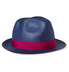 PRODUCT - Borsalino - Woven-Paper Trilby Hat - 338405  0e526756a740