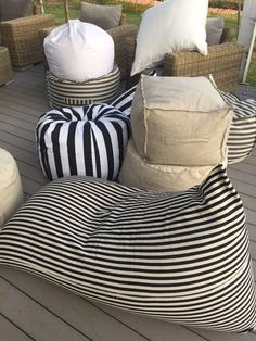 Over sized bean bag linnen style pouf reading by pozitivebeanbags