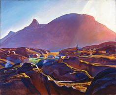 Rockwell Kent's 'Holsteinburg, Greenland,' 1933. I saw thiswith Jack at The Norton in May 2014.