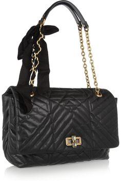 Lanvin|The Happy large quilted-leather shoulder bag|NET-A-PORTER.COM $2,545