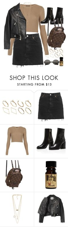 """Untitled #10924"" by nikka-phillips ❤ liked on Polyvore featuring ASOS, Topshop, Louis Vuitton, NLY Accessories and Acne Studios"