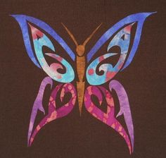 Tribal Butterfly Applique Pattern (easy) - via @Craftsy