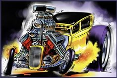 ruckus rod and kustom | Norwell Equipped : Drawn & Quartered | Hot rod art | Pinterest