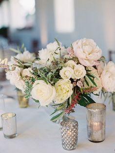 photographer: Carmen Santorelli Photography; Wedding reception centerpiece idea;