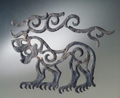 Applique: tiger with stag's horns    Pazyryk Culture, 6th century BC    The Hermitage Museum Ancient Aliens, Ancient History, Bronze Age, Prehistoric, Culture, Semitic Languages, Hermitage Museum, Ancient Jewelry, Ancient Artifacts