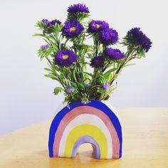 Lisa Junius - Ceramic Rainbow Vase