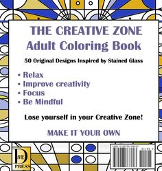 The creative Zone, adult coloring book, Kathy Andrew, A.K. Andrew, Akandrew.com