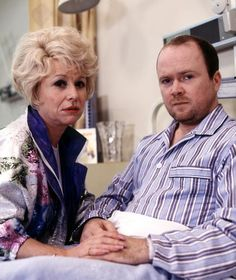 Peggy and Phil played by Barbara Windsor and Steve McFadden.