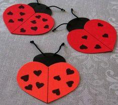 Valentine's Day inspiration: Description of ladybugs-in-paper-noiet-e . Valentine's Day inspiration: Description of ladybugs-in-paper-noiet-e … – Manual Activity Pri Pinterest Valentines, Fun Crafts, Diy And Crafts, Crafts For Kids, Arts And Crafts, Valentine Crafts, Valentines Day, Valentine's Day Drinks, Popular Crafts