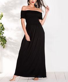 Milan Kiss Dark Khaki Eyelet-Accent Off-Shoulder Maxi Dress - Women Dark Khaki, Shoulder Cut, Bridesmaid Dresses, Wedding Dresses, Dress Backs, Amazing Women, Strapless Dress, Milan, Summer Dresses