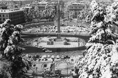 Piazza del Popolo snowfall of   1971