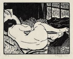 """""""In the fifth year he drank wine. All he did mostly was eat, drink and sleep"""" Edwin Holgate, Nude, Xilografia Linocut Prints, Art Prints, Harlem Renaissance, Art Graphique, Woodblock Print, Erotic Art, Printmaking, Screen Printing, Graphic Art"""