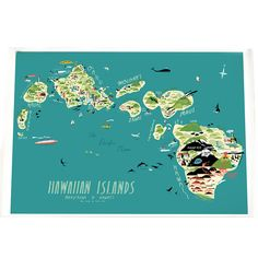 Forest And Waves Hawaiian Islands Poster